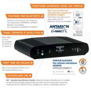 "Antenne satellite automatique ANTARION G6+ 72cm ""connect"" + RECEPTEUR TNT"